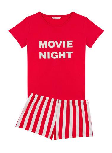 Penti Kırmızı Base Movie Ss Pijama Takımı Kırmızı